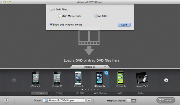 load dvd to dvd itunes converter