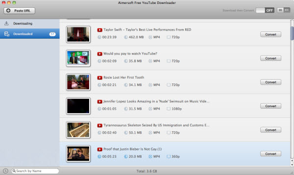 aimersoft free youtube downloader for mac convert
